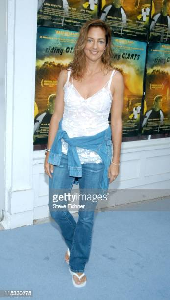 Kelly Klein during Theory Hosts the Riding Giants Premiere Arrivals at UA Southampton Cinema in Southampton New York United States
