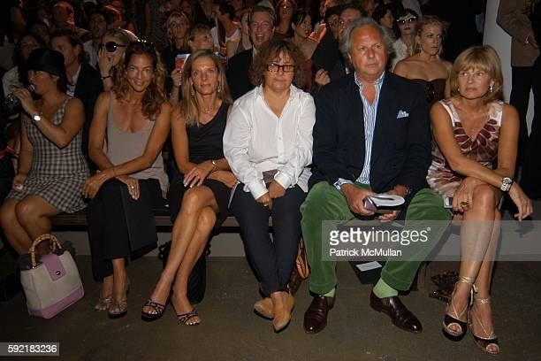 Kelly Klein Sandy Brant Ingrid Sischy Graydon Carter and Anne McNally attend Calvin Klein Spring 2006 Collection at Milk Studio on September 15 2005...