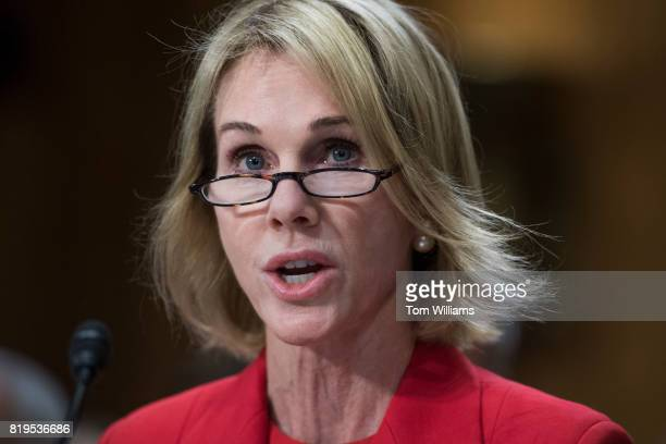 Kelly Knight Craft nominee to be ambassador to Canada attends her Senate Foreign Relations Committee confirmation hearing in Dirksen Building on July...