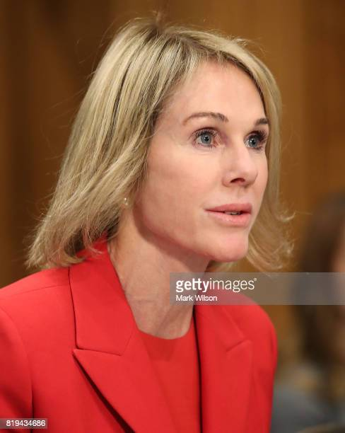 Kelly Knight Craft testifies during her confirmation hearing to be US Ambassador to Canada during a Senate Foreign Relations Committee hearing on...