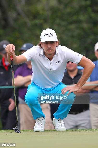 Kelly Kraft looks at his line during the third round of the Valspar Championship on March 10 at Westin Innisbrook-Copperhead Course in Palm Harbor,...