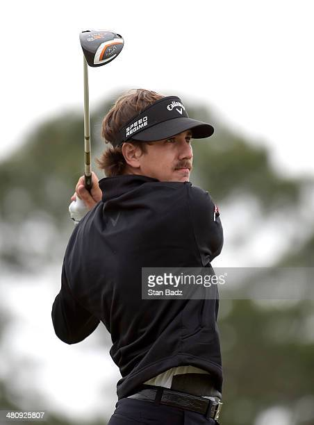 Kelly Kraft plays a shot on the first hole during the first round of the Webcom Tour Chitimacha Louisiana Open Presented by NACHER at Le Triomphe...