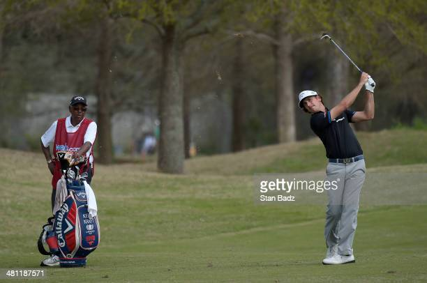 Kelly Kraft plays a shot on the tent hole during the second round of the Webcom Tour Chitimacha Louisiana Open Presented by NACHER at Le Triomphe...