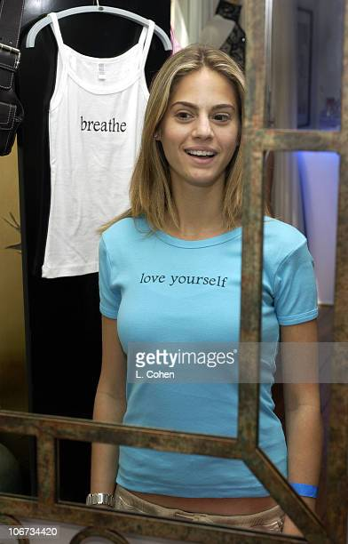 Kelly Kruger at Mirror Me Tees during Sunset Marquis Oasis Hosts PreMTV Awards with SPIN Magazine Rock the Vote at Sunset Marquis Villas in West...