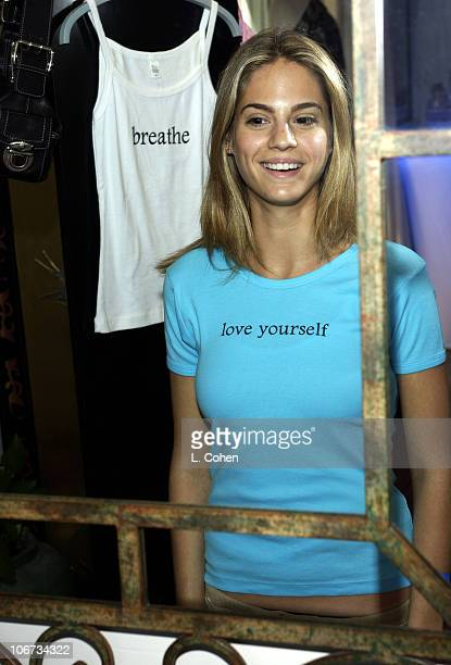 Kelly Kruger at Mirror Mee Tees during Sunset Marquis Oasis Hosts PreMTV Awards with SPIN Magazine Rock the Vote at Sunset Marquis Villas in West...
