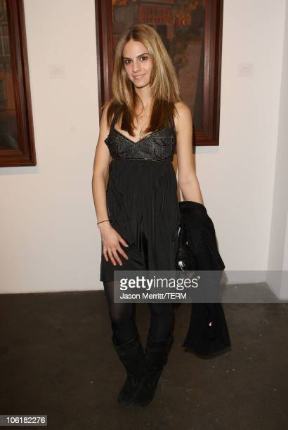 Kelly Kruger attends the Bryten Goss 2008 Memorial Exhibition at Bergamot Station on February 21 2008 in Santa Monica California