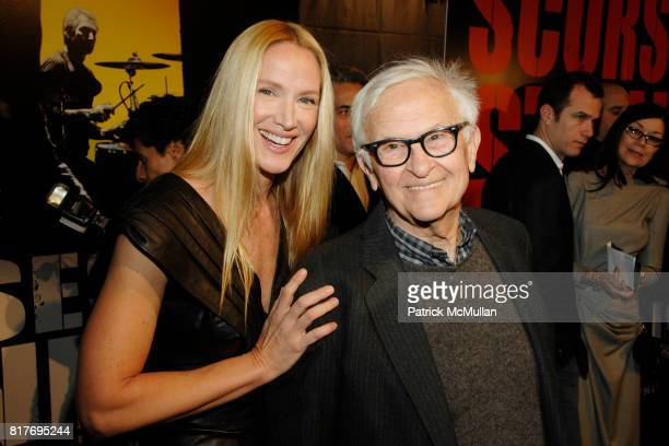 Kelly Lynch and Albert Maysles attend STONES SCORSESE 'SHINE A LIGHT' World Premiere at Ziegfeld Theater on March 30 2008 in New York City