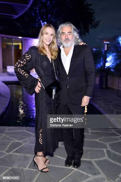 Kelly Lynch and Mitch Glazer attend GQ Style Hugo Boss celebrate Amazing Spaces with Edgar Ramirez at John Lautner's Harvey House on November 2 2017...
