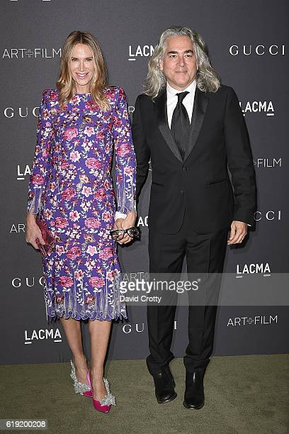Kelly Lynch and Mitch Glazer attend the 2016 LACMA ArtFilm Gala Arrivals at LACMA on October 29 2016 in Los Angeles California