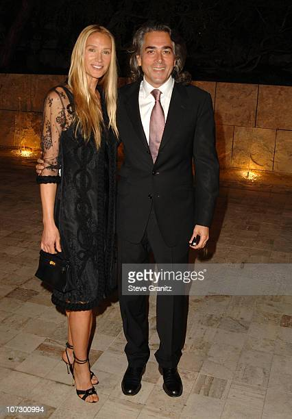 Kelly Lynch and Mitch Glazer during Dior and EIF's Women's Cancer Research Fund Celebrate the Launch of Dior Christal at the Getty Center in Los...