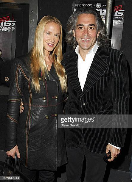 Kelly Lynch and Mitch Glazer during Smashbox Cosmetics and the Roxy Theater Present Hedwig And The Angry Inch Arrivals at Roxy Theatre in West...