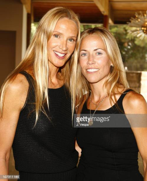 Kelly Lynch and Sheryl Crow during Kelly Lynch and Lisa Love Host a Lunch in Honor of James Ferragamo at Private Home in Los Angeles California...