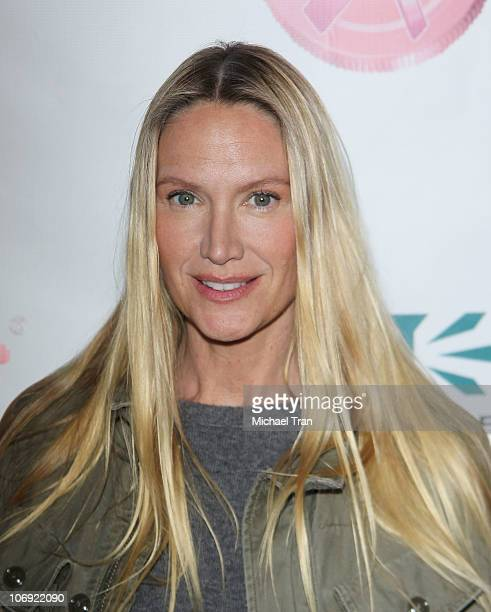 Kelly Lynch arrives at Yoplait's Save Lids To Save Lives program for breast cancer awareness held at the Pantages Theatre on November 16 2010 in...