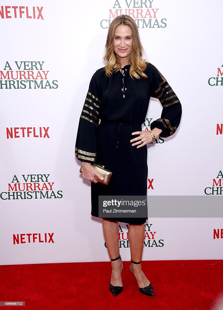 Kelly Lynch attends 'A Very Murray Christmas' New York premiere at Paris Theater on December 2, 2015 in New York City.
