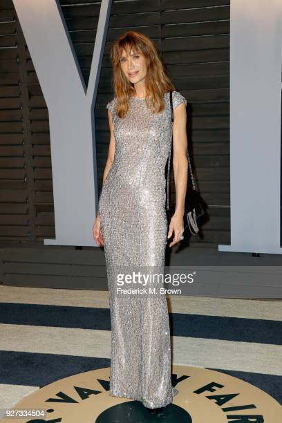 Kelly Lynch attends the 2018 Vanity Fair Oscar Party hosted by Radhika Jones at Wallis Annenberg Center for the Performing Arts on March 4 2018 in...