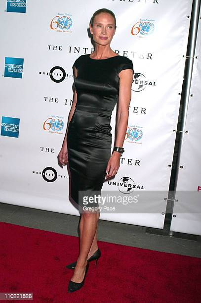 Kelly Lynch during 4th Annual Tribeca Film Festival The Interpreter Premiere at Ziegfeld Theater in New York City New York United States