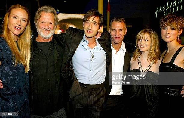 Kelly Lynch Kris Kristofferson Adrien Brody Director John Maybury Jennifer Jason Leigh and Keira Knightley arrive at Warner Independent's Premiere of...