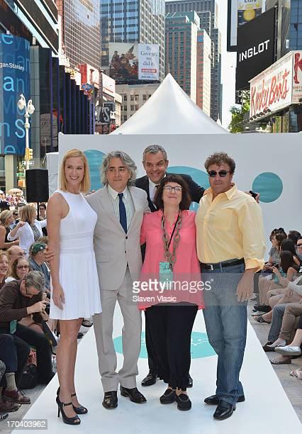 Kelly Lynch Mitch Glazer Danny Huston Carol Ramsey and Michael Rispoli attend Magic City Season 2 Premiere Fashion Event at Duffy Square in Times...