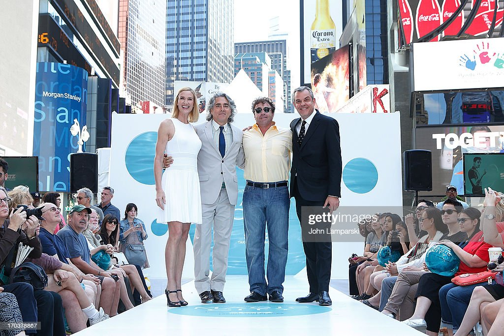 Kelly Lynch, Mitch Glazer, Yul Vazquez and Danny Huston attend the 'Magic City' Season 2 premiere celebration in Times Square on June 12, 2013 in New York City.