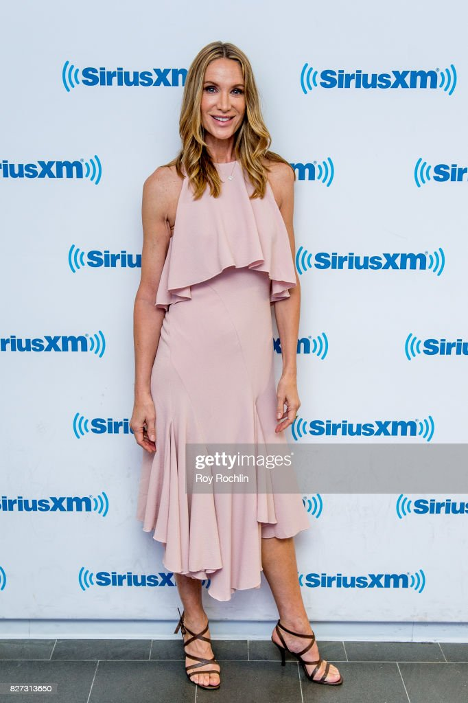 Kelly Lynch visits Sirius XM at SiriusXM Studios on August 7, 2017 in New York City.