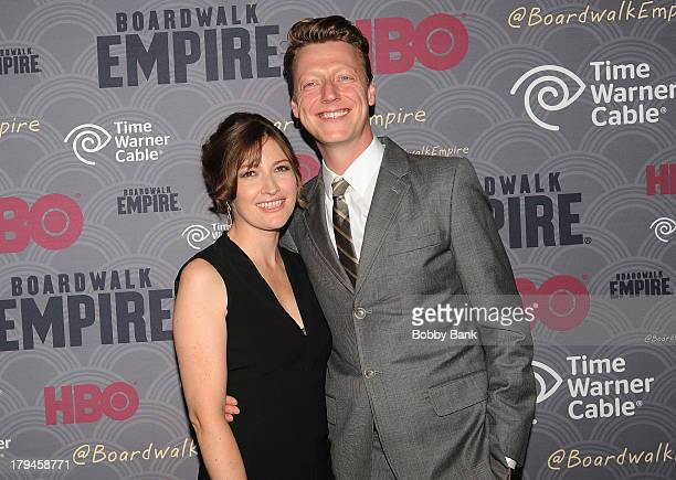 Kelly Macdonald and Dougie Payne attend the premiere of HBO's 'Boardwalk Empire' at the Ziegfeld Theater on September 3 2013 in New York City