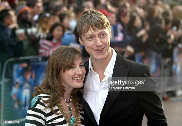Kelly MacDonald and Dougie Payne during 'Nanny McPhee' London Premiere Arrivals at UCI Empire Leicester Square in London Great Britain