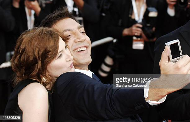 Kelly Macdonald and Javier Bardem during 2007 Cannes Film Festival 'No Country For Old Men' Premiere at Palais des Festival in Cannes France
