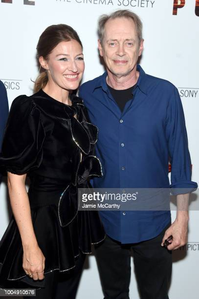 Kelly Macdonald and Steve Buscemi attend the Puzzle New York Screening at The Roxy Cinema on July 24 2018 in New York City