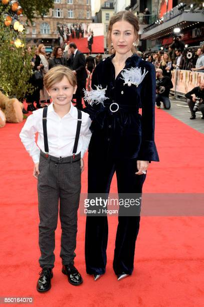 Kelly Macdonald and Will Tilston attend the 'Goodbye Christopher Robin' World Premiere held at Odeon Leicester Square on September 20 2017 in London...