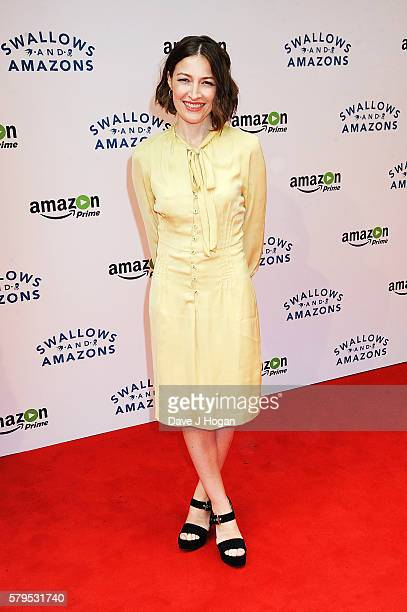 Kelly Macdonald arrives for the World Premiere of Swallows and Amazons at Theatre by the Lake on July 24 2016 in Keswick England