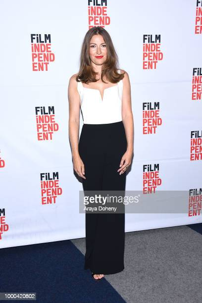 Dustin O'Halloran David Denman Kelly Macdonald Marc Turtletaub and Elvis Mitchell attend Film Independent at The WGA Theater presents screening and...