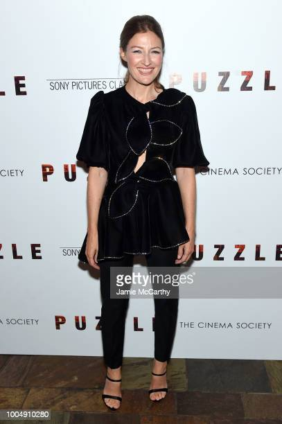 Kelly Macdonald attends the Puzzle New York Screening at The Roxy Cinema on July 24 2018 in New York City