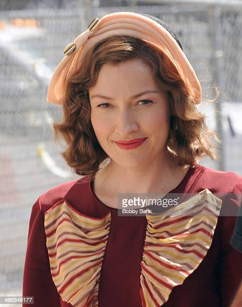 Kelly Macdonald is seen on the set of Boardwalk Empire on June 2 2014 in New York City