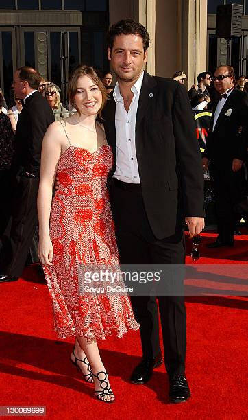 Kelly MacDonald Jeremy Northam during The 8th Annual Screen Actors Guild Awards Arrivals at Shrine Exposition Center in Los Angeles California United...
