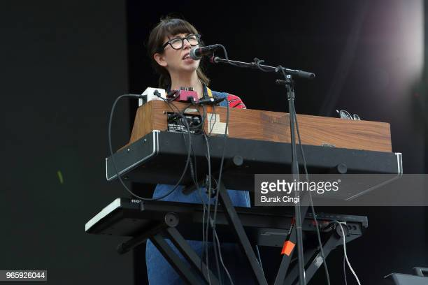 Kelly MacLellan of Alvvays performs on day 1 of the Governors Ball Music Festival 2018 at Randall's Island Park on June 1 2018 in New York