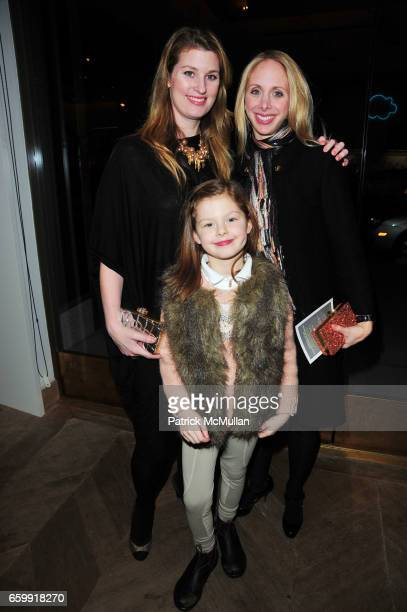 Kelly Mallon Kara Glazier and Madeleine Mallon attend CREWCUTS celebrate 'Mimi's Shoes' with the WILDLIFE CONSERVATORY SOCIETY at Crewcuts on Madison...