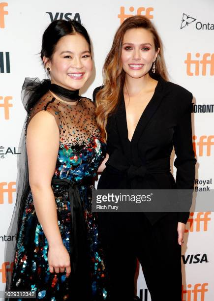 Kelly Marie Tran and Elizabeth Olsen attend the Sorry For Your Loss premiere during 2018 Toronto International Film Festival at TIFF Bell Lightbox on...