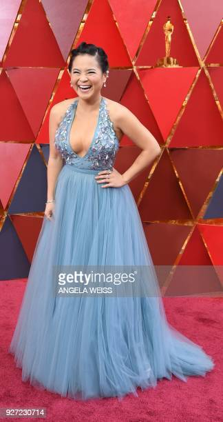Kelly Marie Tran arrives for the 90th Annual Academy Awards on March 4 in Hollywood California / AFP PHOTO / ANGELA WEISS / The erroneous mention[s]...