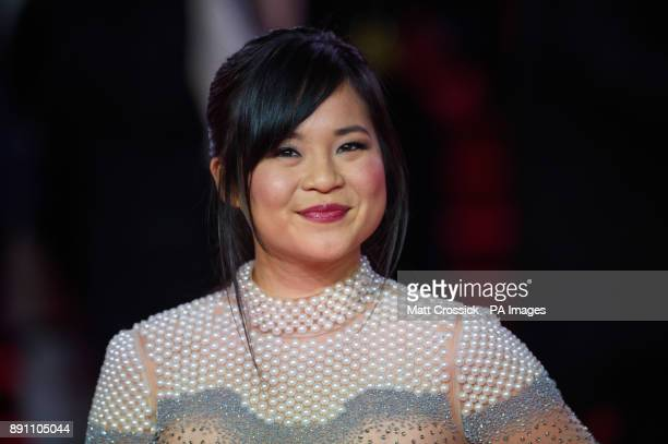 Kelly Marie Tran attending the european premiere of Star Wars The Last Jedi held at The Royal Albert Hall London Picture date Tuesday December 12...