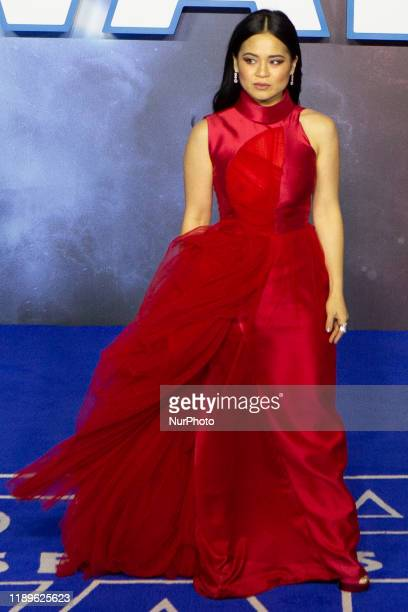 Kelly Marie Tran attends ''Star Wars The Rise of Skywalker'' European Premiere at Cineworld Leicester Square on December 18 2019 in London