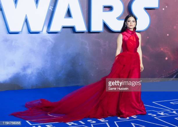 Kelly Marie Tran attends Star Wars The Rise of Skywalker European Premiere at Cineworld Leicester Square on December 18 2019 in London England