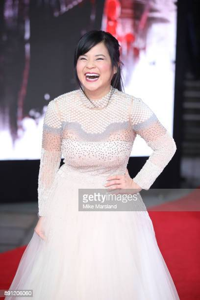 Kelly Marie Tran attends the European Premiere of 'Star Wars The Last Jedi' at Royal Albert Hall on December 12 2017 in London England