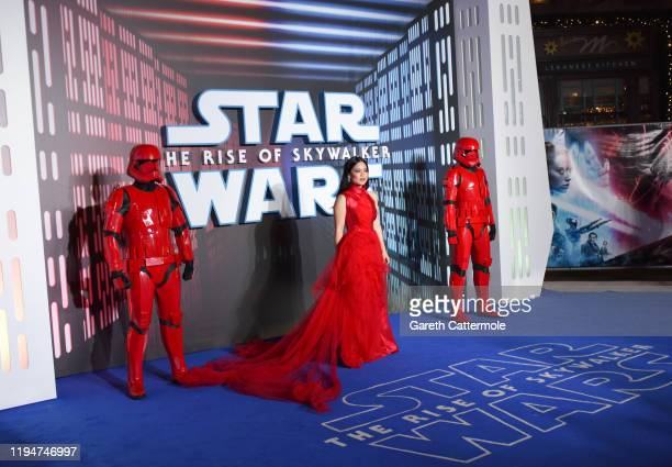 Kelly Marie Tran attends the European premiere of Star Wars The Rise of Skywalker at Cineworld Leicester Square on December 18 2019 in London England