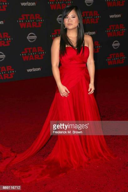 Kelly Marie Tran attends the premiere of Disney Pictures and Lucasfilm's 'Star Wars The Last Jedi' at The Shrine Auditorium on December 9 2017 in Los...