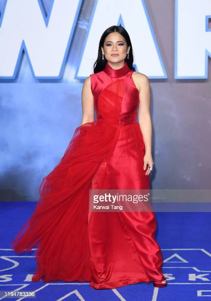Kelly Marie Tran attends the Star Wars The Rise of Skywalker European Premiere at Cineworld Leicester Square on December 18 2019 in London England