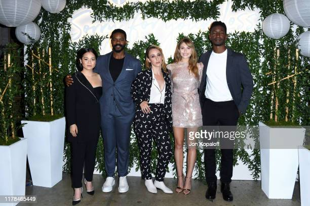 Kelly Marie Tran Jovan Adepo Kit Steinkellner Elizabeth Olsen and Mamoudou Athie attend the Sorry For Your Loss season 2 premiere event at NeueHouse...