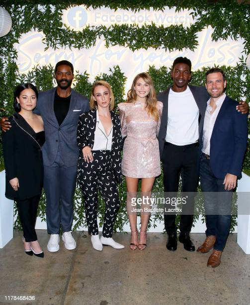 Kelly Marie Tran Jovan Adepo Kit Steinkellner Elizabeth Olsen Mamoudou Athie and Zack Robidas attend the Sorry For Your Loss season 2 premiere event...