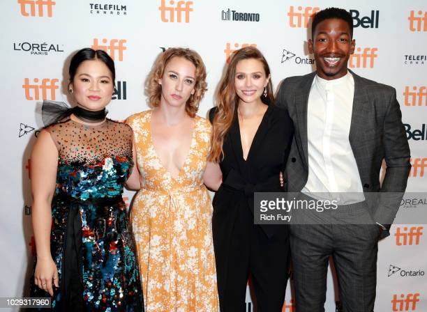 Kelly Marie Tran Kit Steinkellner Elizabeth Olsen and Mamoudou Athie attend the Sorry For Your Loss premiere during 2018 Toronto International Film...