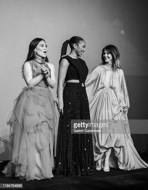 Kelly Marie Tran Naomi Ackie and Keri Russell attend the European premiere of Star Wars The Rise of Skywalker at Cineworld Leicester Square on...