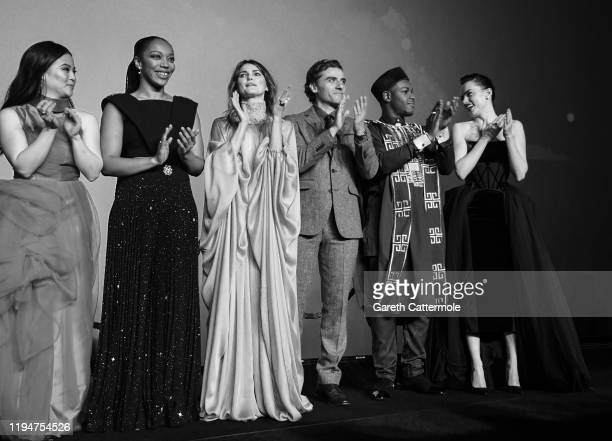 Kelly Marie Tran Naomi Ackie Keri Russell Oscar Isaac John Boyega and Daisy Ridley attend the European premiere of Star Wars The Rise of Skywalker at...